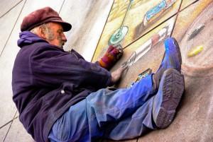 Parijse straatkunstenaar